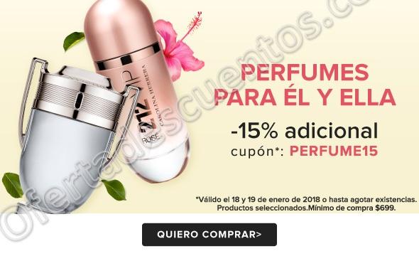 Linio: Cupón 15% de Descuento Adicional en Perfumes