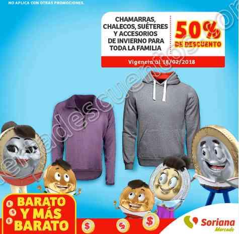Soriana Mercado: 50% de descuento en ropa de invierno como chamarras, chalecos y más