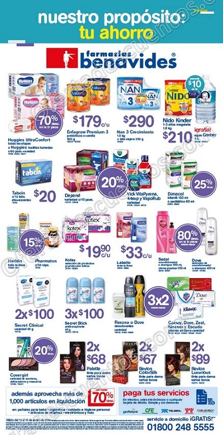 Farmacias Benavides: Promociones de Fin de Semana del 12 al 15 de Enero 2018