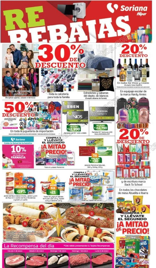 Promociones de Fin de Semana en Soriana del 5 al 8 de Enero 2018