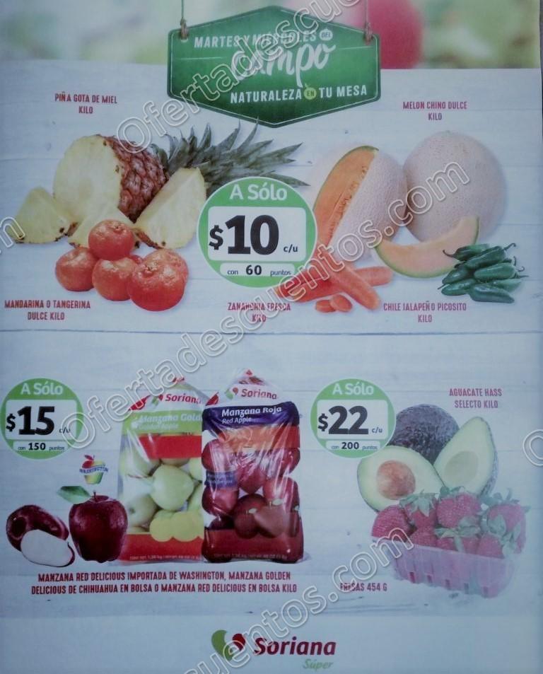Frutas y Verduras Soriana 9 y 10 de Enero de 2018