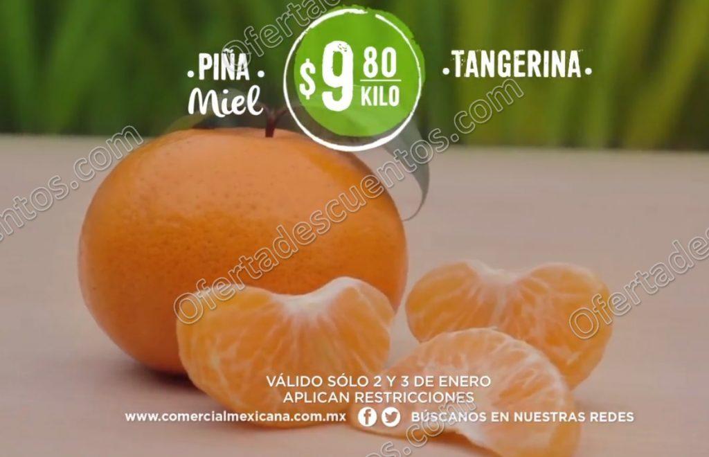 Comercial Mexicana: Frutas y Verduras del Campo 2 y 3 de Enero 2018