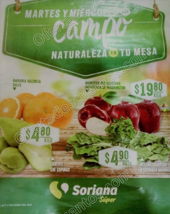 Frutas y Verduras Soriana 16 y 17 de Enero 2018
