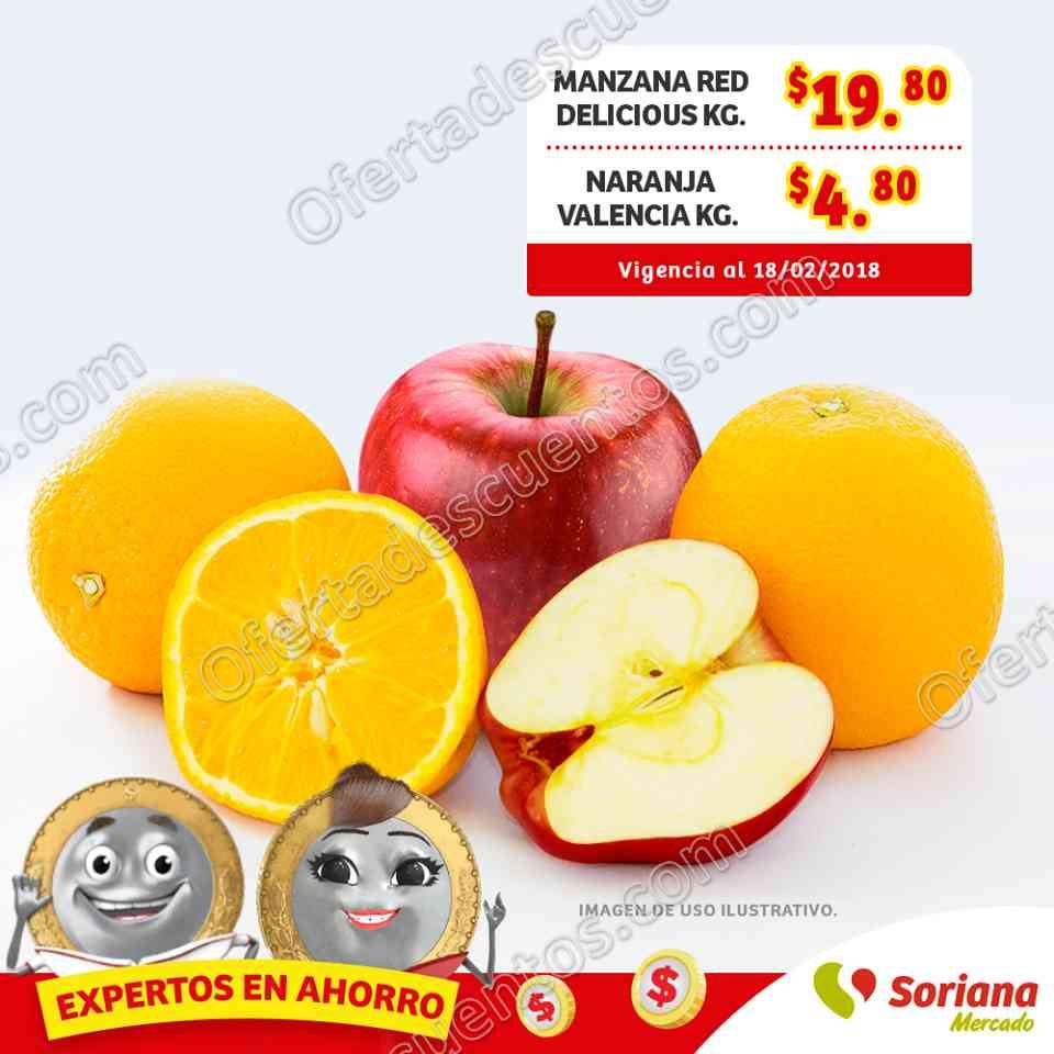 Soriana Mercado: Ofertas Frutas y Verduras 16 y 17 de Enero 2018