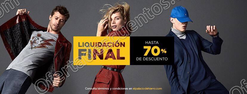 Palacio de Hierro: Liquidación Final hasta 70% de descuento al 26 de Febrero 2018