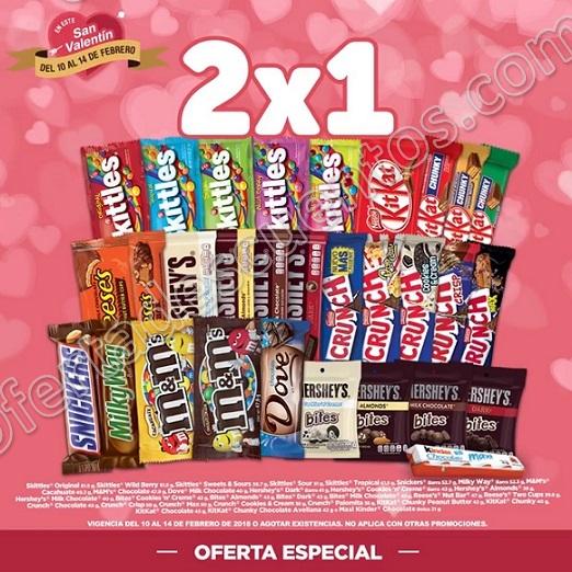 Oxxo: 2×1 en Chocolates y Dulces del 10 al 14 de Febrero 2018