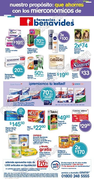 Farmacias Benavides: Ofertas Mierconómicos 31 de enero 2018