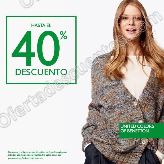 Benetton: Rebajas con hasta 40% de descuento en mercancía seleccionada