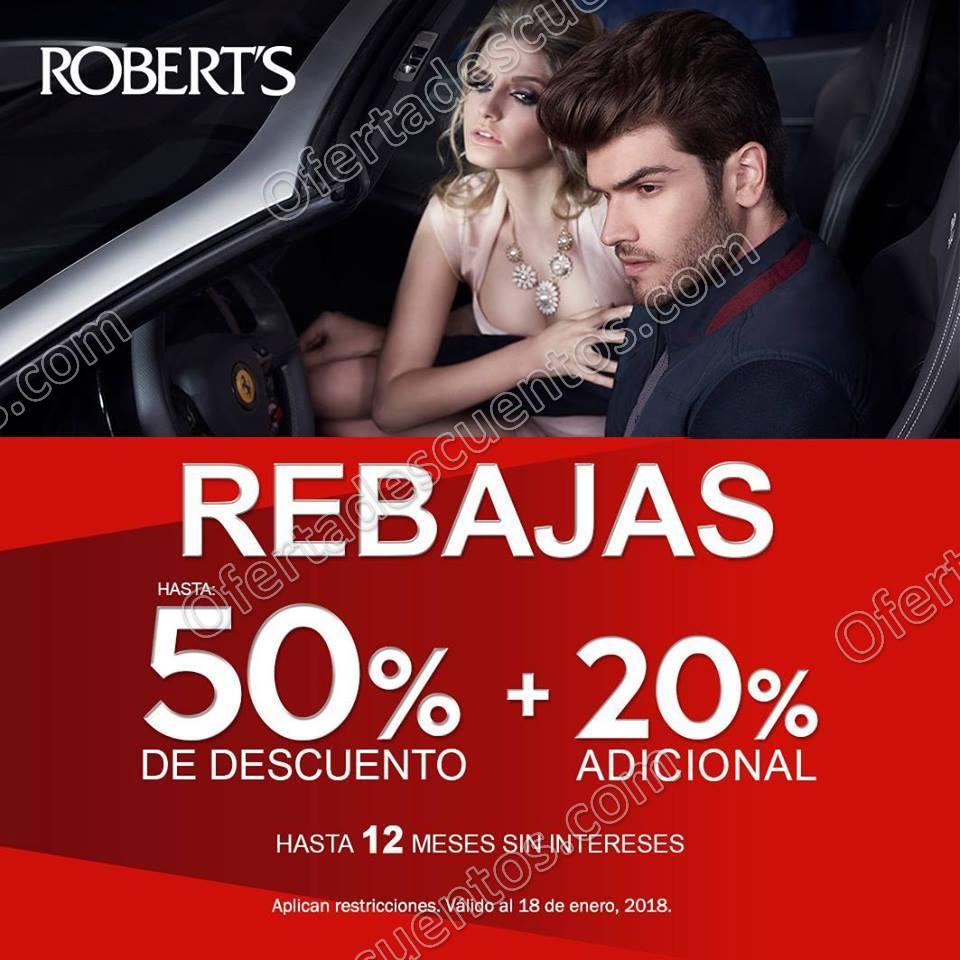 Robert's: Rebajas Hasta 50% de descuento más 20% adicional en productos seleccionados