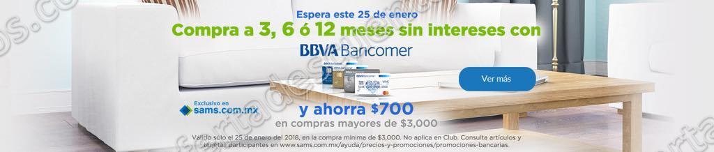 Sam's Club: Cyber Jueves $700 de descuento con Bancomer 25 de Enero 2018
