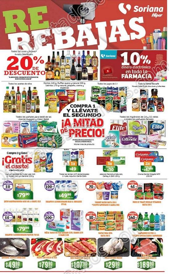 Soriana: Promociones de Fin de Semana del 12 al 15 de Enero 2018