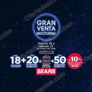 Venta Nocturna Sears 26 y 27 de Enero 2018