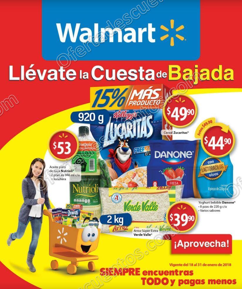Folleto de Ofertas Walmart del 18 al 31 de Enero 2018