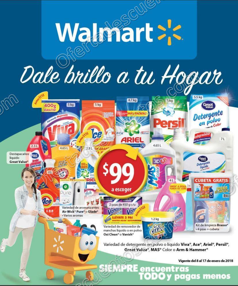 Walmart: Folleto Vigente del 8 al 17 de Enero 2018