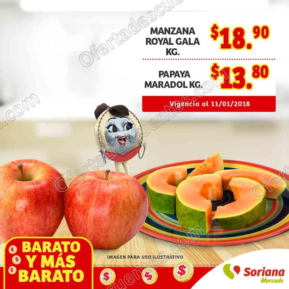 Frutas y Verduras Soriana Mercado 9 al 11 de Enero 2018
