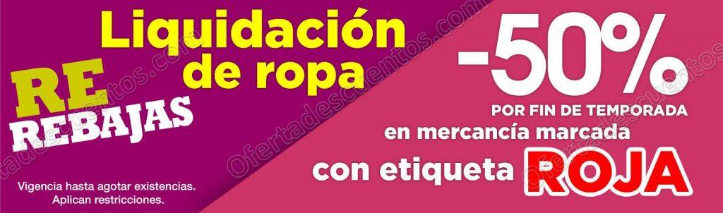 Comercial Mexicana: Liquidación de Ropa Hasta 50% de Descuento