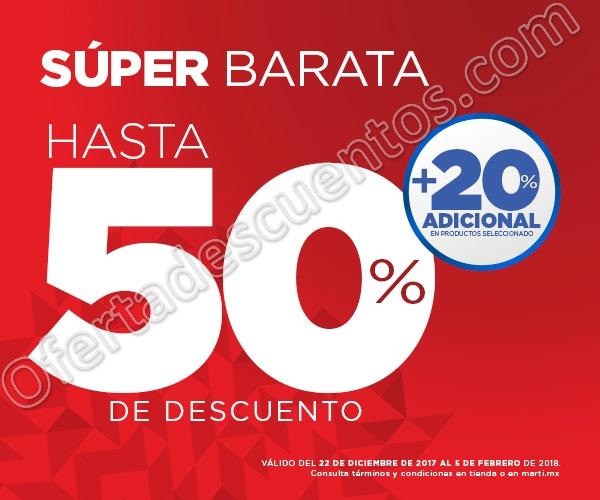 Super Barata Martí 50% de Descuento + 20% Adicional