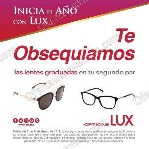 Opticas Lux: Lentes Graduados Gratis en Segundo Par