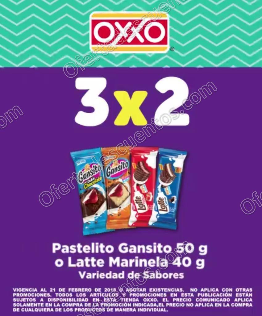 Oxxo: 3×2 en Pastelito Gansito y Latte Marinela