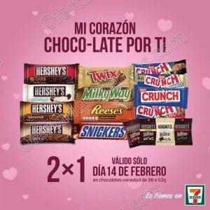 7Eleven: 2×1 en variedad de Chocolates de 38 a 52 gr solo 14 de Febrero
