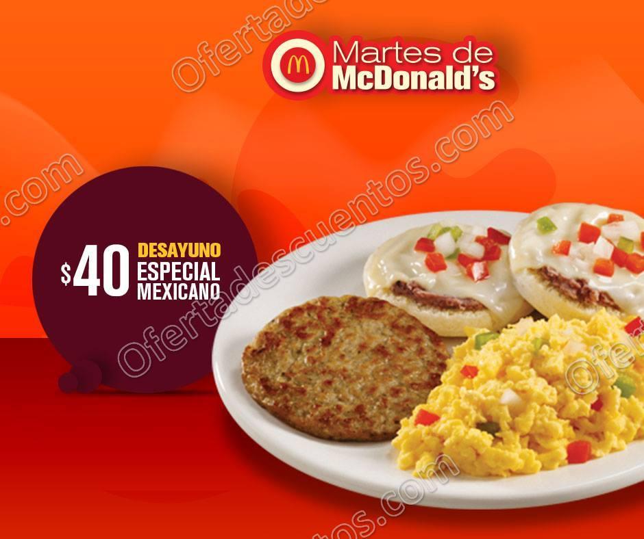 Cupones Martes de McDonald's 6 de Febrero 2018