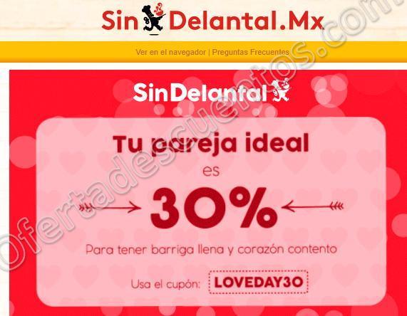 Sin Delantal Mx: Cupones de descuento para el día del amor y la amistad 14 de Febrero