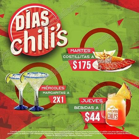 Días Chili's: Margaritas al 2×1, Bebidas a $44 y más