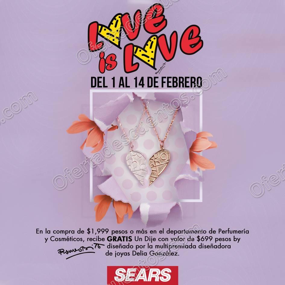 Sears: Dije Gratis en la compra de $1,999 o más en Perfumería y Cosméticos