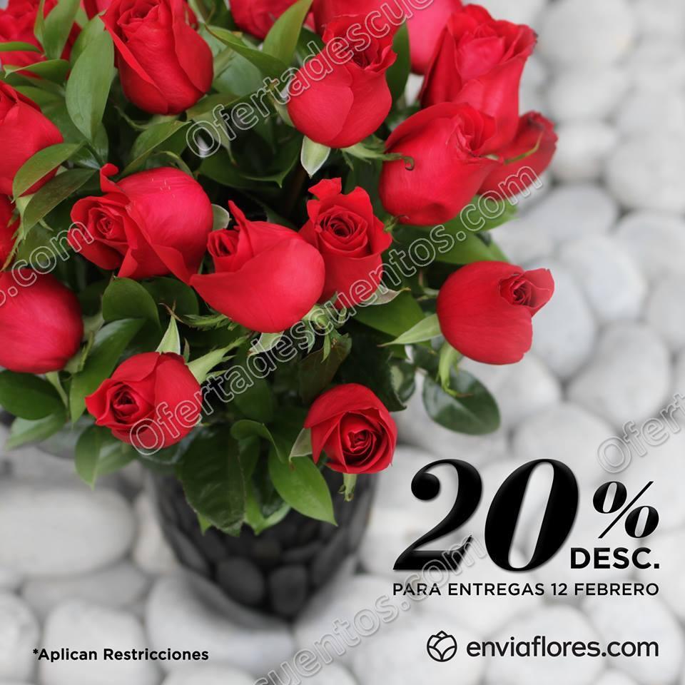 EnvíaFlores: 20% de descuento para entregas del 12 de Febrero sin mínimo de compra
