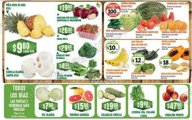 Frutas y Verduras Soriana 13 y 14 de Febrero 2018
