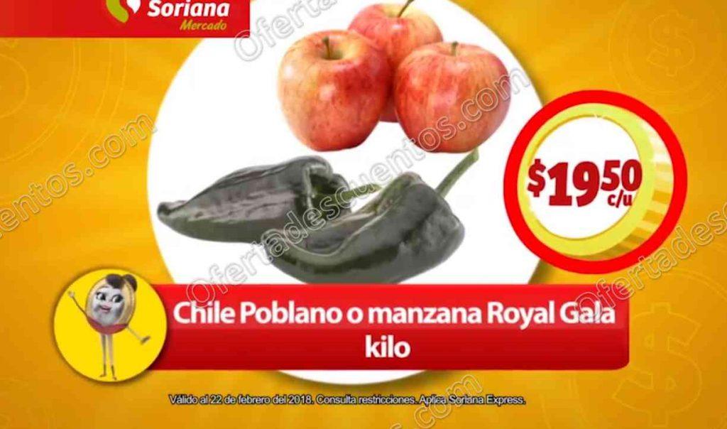 Frutas y Verduras Soriana Mercado del 20 al 22 de Febrero 2018