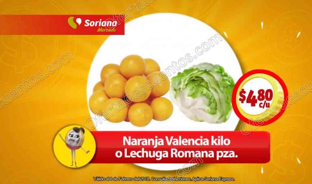Frutas y Verduras Soriana Mercado 7 y 8 de Febrero 2018