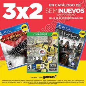 Gamers: 3×2 en videojuegos seminuevos del 12 al 25 de Febrero 2018