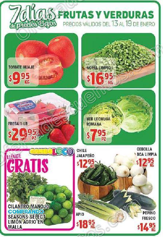 HEB: 7 Días de Frutas y Verduras del 13 al 19 de Febrero 2018
