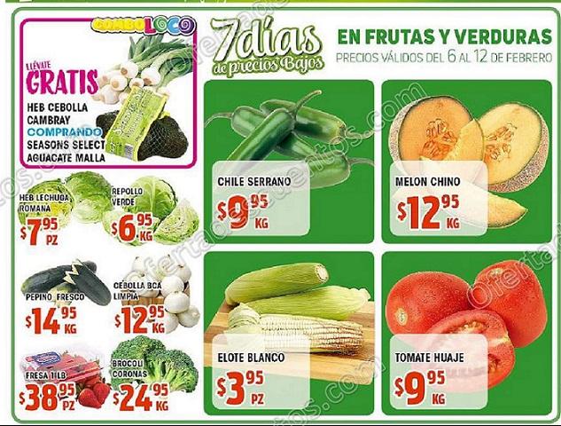 HEB: 7 días de frutas y verduras del 6 al 12 de Febrero 2018