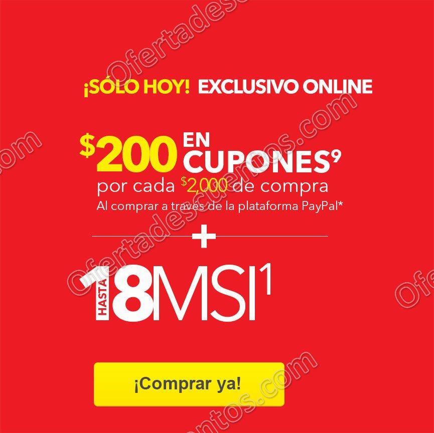 Best Buy: Horas Locas $200 en Cupones por cada $2,000 con PayPal de 11:00 am a 4:00 pm