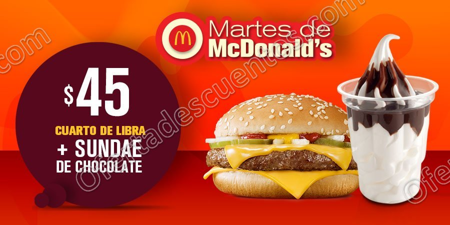 Cupones Martes de McDonald's 20 de Febrero 2018