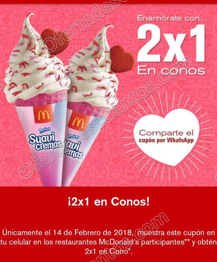 McDonald's: 2×1 en conos este 14 de Febrero 2018