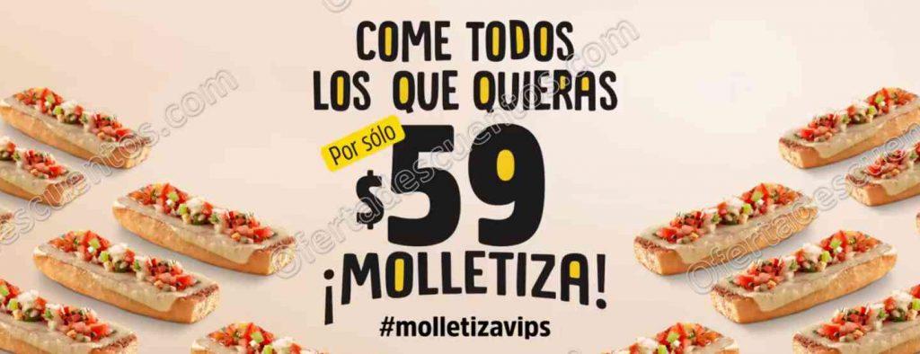 Molletiza Vips: Come todos los molletes que quieras por $59