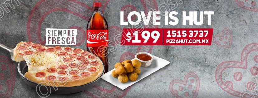 Pizza Hut: Pan Pizza 1 Ingrediente + Refresco de 2 litros + Quepapas por $199