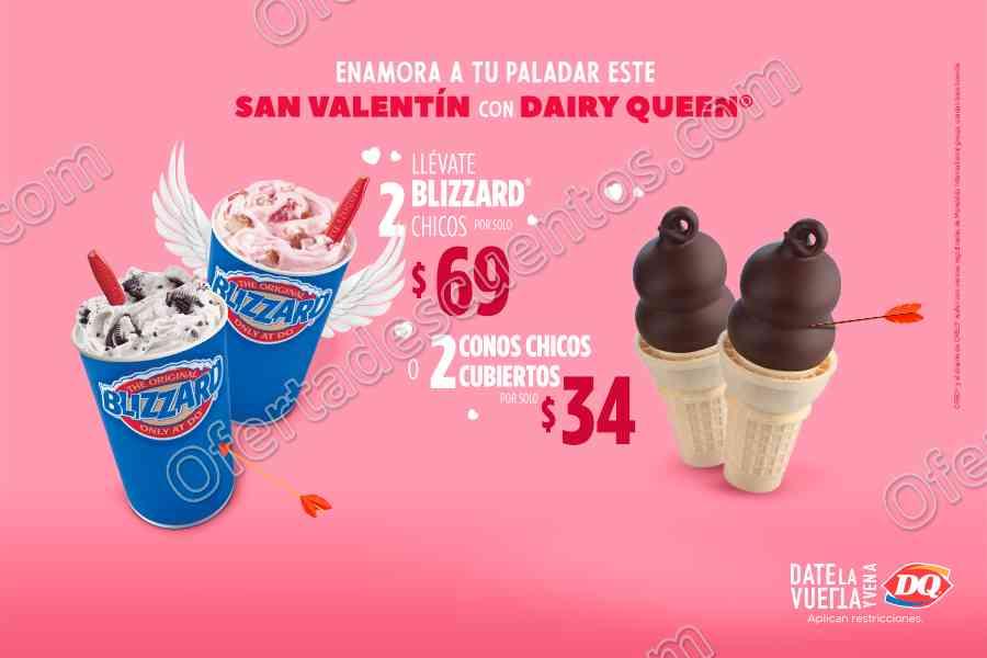Dairy Queen: Promociones Mes del Amor y la Amistad 2 Blizzard chicos por $69 y más