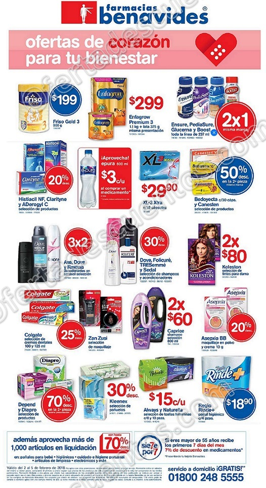 Farmacias Benavides: Promociones de fin de semana del 2 al 5 de febrero