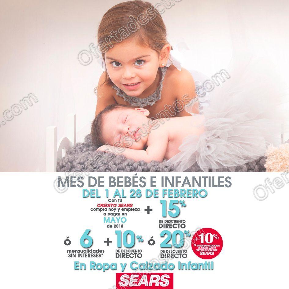 Sears: Mes del bebé e infantiles 20% de descuento en ropa y calzado del 1 al 28 de Febrero