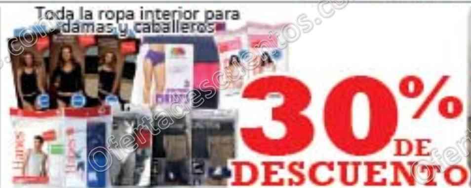 Soriana: 30% de descuento en ropa interior para dama y caballero del 27 y 28 de febrero