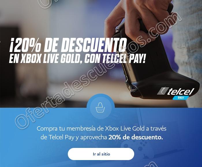 Telcel Pay: 20% de descuento en Membresías Xbox Live Gold pagando con PayPal