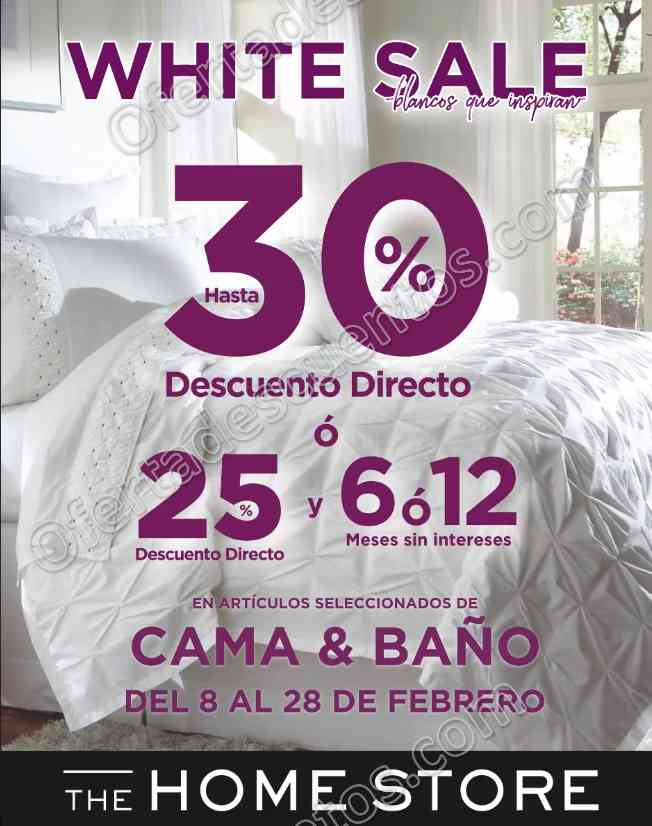 The Home Store: White Sale hasta 30% de descuento en cama y baño del 8 al 28 de Febrero