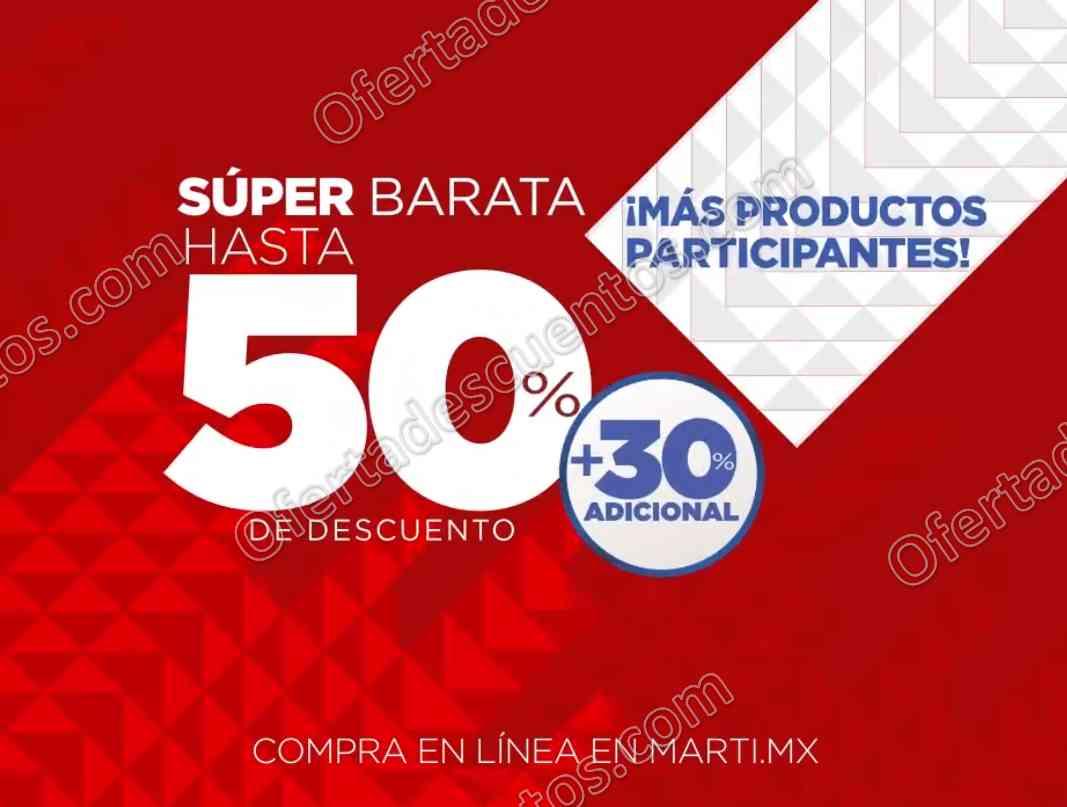Super Barata Martí 2018: Últimos descuentos hasta 50% más 30% adicional