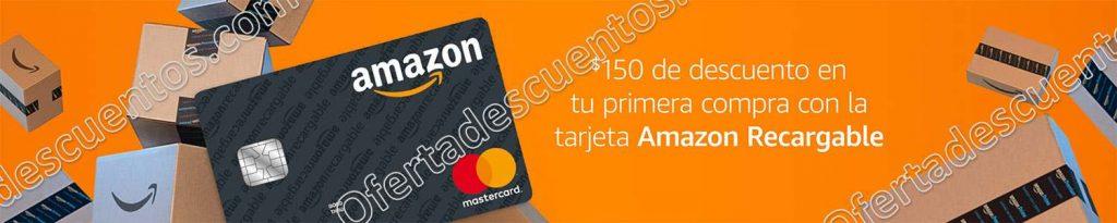 Amazon: Tarjeta de Débito Amazon Recargable con $150 de descuento en tu primera compra