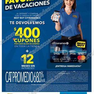 Best Buy: Hasta $400 en cupones por cada $2,000 de compra con Tarjeta Best Buy Citibanamex