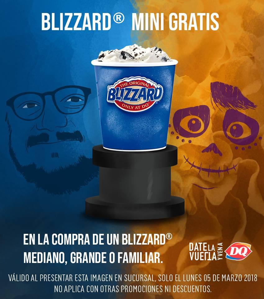 Dairy Queen: Blizzard Mini Gratis en la compra de uno Mediano, Grande o Familiar solo 5 de marzo